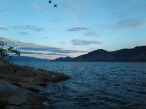 View across Okanagan Lake