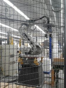 robot in a cage