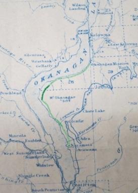 a map of the Okanagan