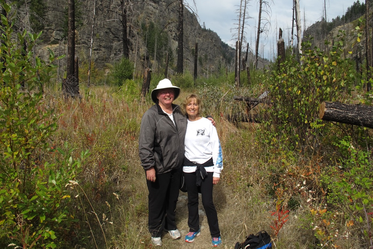 Karen Autio (left) and Loraine Kemp in Wild Horse Canyon.