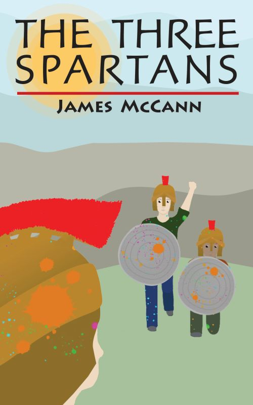 book cover for The Three Spartans by James McCann